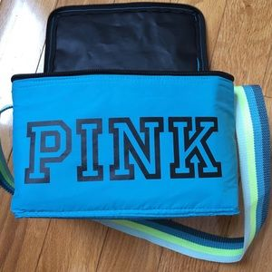 Pink Victoria's secret logo insulated lunch box